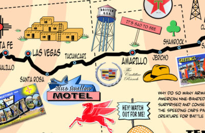 Route 66 Icons Map
