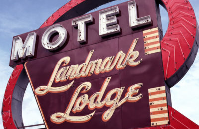 Landmark Lodge Motel Sign